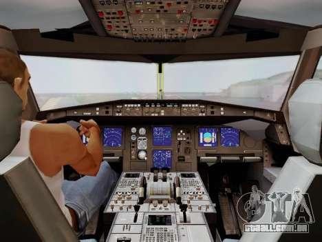 Airbus A340-600F DHL Buffalo para GTA San Andreas vista inferior