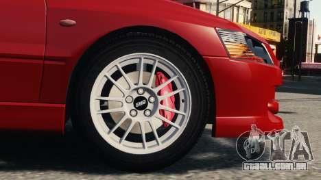 Mitsubishi Lancer Evolution IX para GTA 4 esquerda vista
