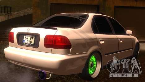 Honda Civic JDM para GTA San Andreas esquerda vista