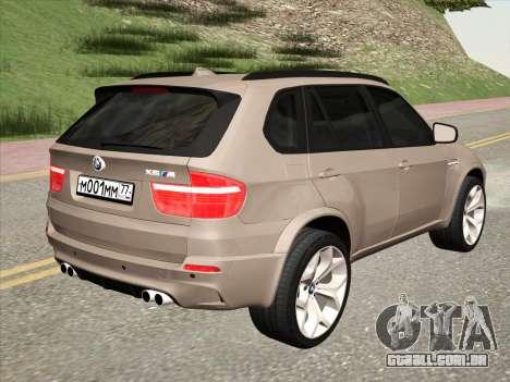 BMW X5M E70 2010 para GTA San Andreas vista direita