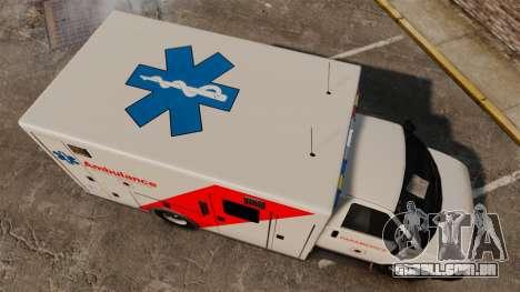 Brute Speedo RLMS Ambulance [ELS] para GTA 4 vista direita