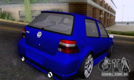 Volkswagen Golf R32 para GTA San Andreas vista interior
