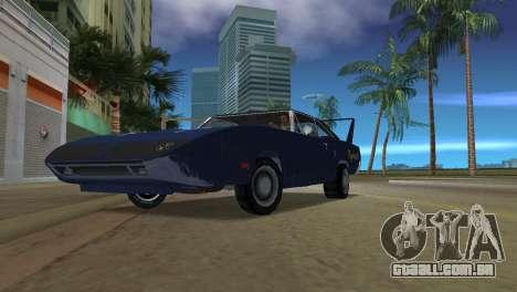 Plymouth Superbird para GTA Vice City vista traseira esquerda