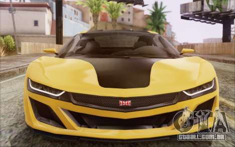 GTA V Dinka Jester IVF para GTA San Andreas vista traseira