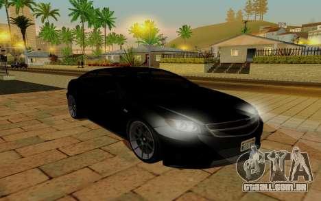 Benefactor Schwarzer para GTA San Andreas traseira esquerda vista