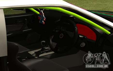 Nissan Skyline R-34 RDS para GTA San Andreas traseira esquerda vista