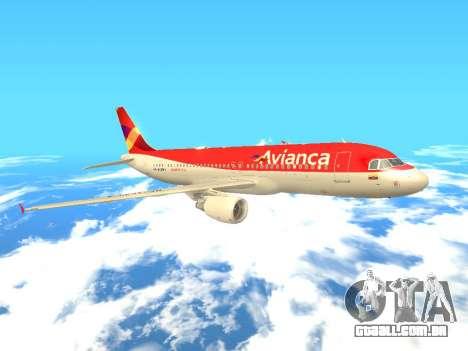 Airbus A320 Avianca Columbia para GTA San Andreas