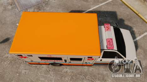 Brute LSMC Paramedic para GTA 4 vista direita