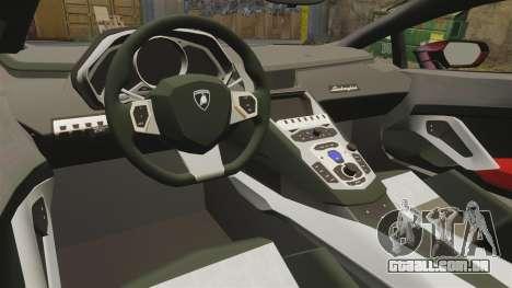 Lamborghini Huracan LP610-4 2014 Red Bull para GTA 4 vista interior