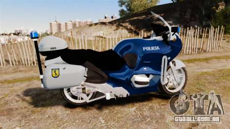 BMW R1150RT Portuguese Police [ELS] para GTA 4 esquerda vista