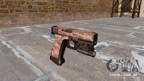 Pistola Glock De 20 Red Tiger para GTA 4