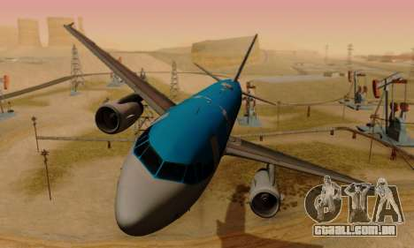 Airbus A319 KLM para GTA San Andreas esquerda vista