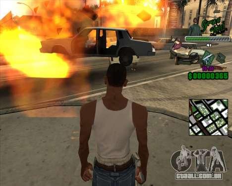 C-Hud Grove Street para GTA San Andreas terceira tela