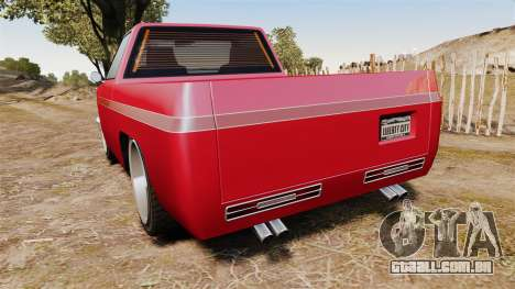 Rancher Lowride para GTA 4 traseira esquerda vista