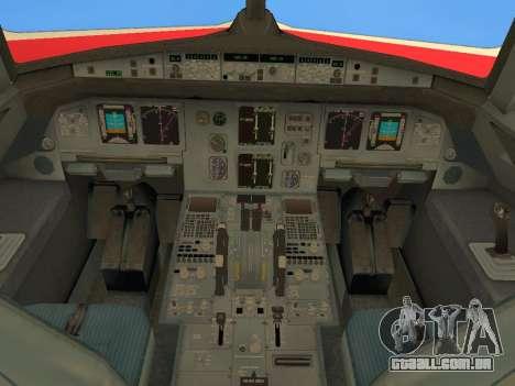 Airbus A320 Avianca Columbia para GTA San Andreas vista superior