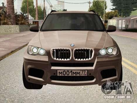 BMW X5M E70 2010 para GTA San Andreas traseira esquerda vista