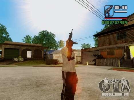 A metralhadora UZI para GTA San Andreas sétima tela