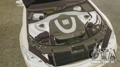 Mercedes-Benz S65 (W221) AMG para GTA 4 vista interior