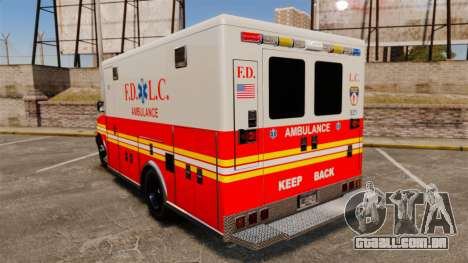 Brute Speedo FDLC Ambulance [ELS] para GTA 4 traseira esquerda vista