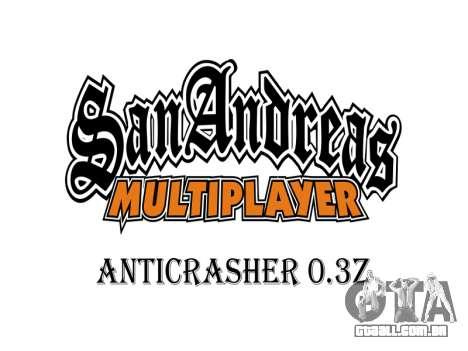 AntiCrasher for SAMP 0.3z para GTA San Andreas