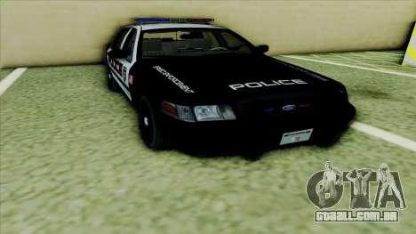 Ford Crown Victoria Police Interceptor para GTA San Andreas esquerda vista
