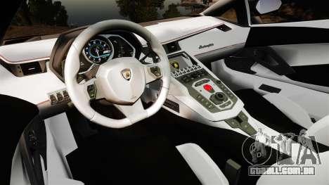 Lamborghini Aventador LP700-4 [Monster truck] para GTA 4 vista de volta