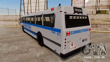 Brute Bus Corrections [ELS] para GTA 4 traseira esquerda vista
