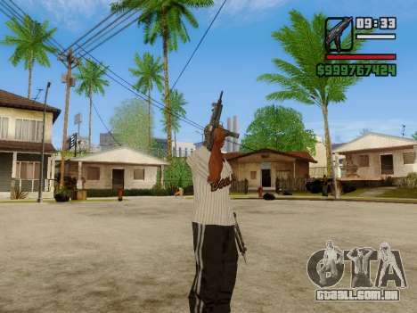 A metralhadora UZI para GTA San Andreas oitavo tela