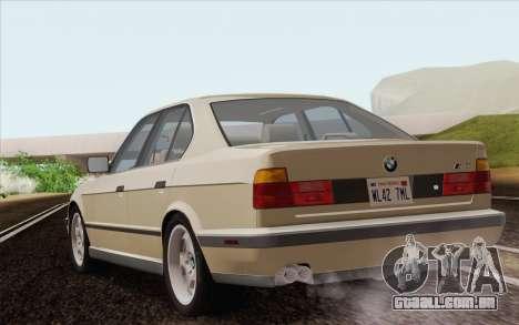 BMW M5 E34 1991 NA-spec para GTA San Andreas esquerda vista
