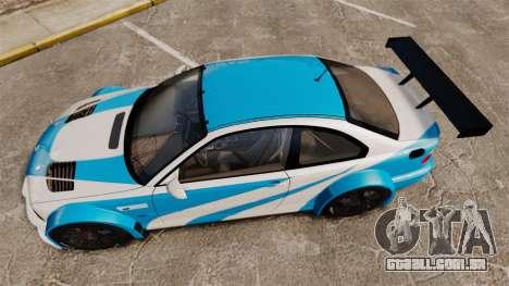 BMW M3 GTR 2012 Most Wanted v1.1 para GTA 4 vista direita