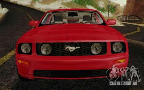 Ford Mustang GT 2005 para GTA San Andreas vista superior