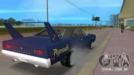 Plymouth Superbird para GTA Vice City vista direita
