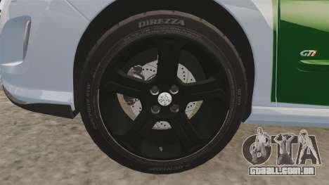 Peugeot 308 GTi 2011 Guardia Civil para GTA 4 vista de volta