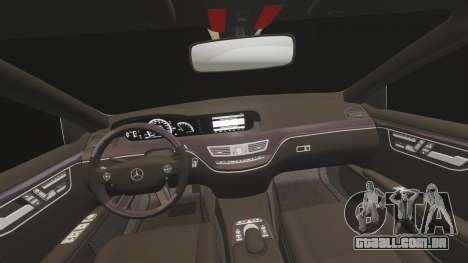 Mercedes-Benz S65 (W221) AMG para GTA 4 vista superior