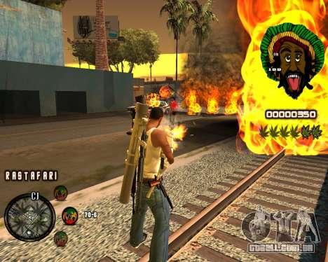 C-HUD Rastafari para GTA San Andreas segunda tela