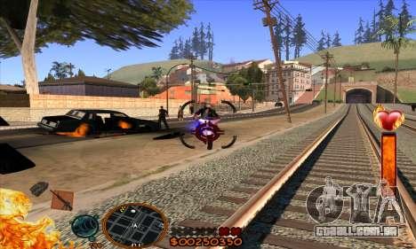 C-HUD Fire para GTA San Andreas por diante tela