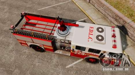 Fire Truck v1.4A FDLC [ELS] para GTA 4 vista direita