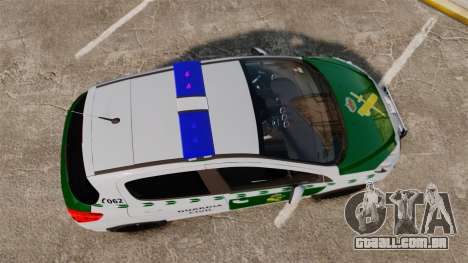Peugeot 308 GTi 2011 Guardia Civil para GTA 4 vista direita
