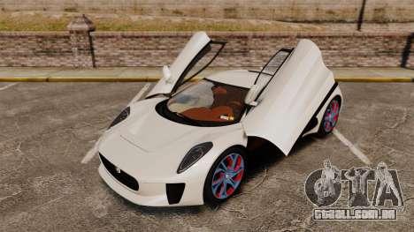 Jaguar C-X75 2014 [EPM] para GTA 4 interior