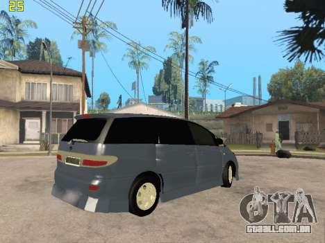 Toyota Estima Altemiss 2wd para GTA San Andreas vista interior