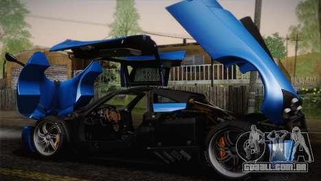 Pagani Huayra para o motor de GTA San Andreas