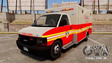 Brute Speedo FDLC Ambulance [ELS] para GTA 4
