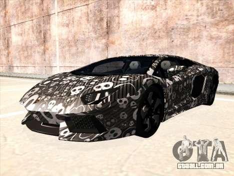 Lamborghini Aventador LP700-4 2013 para GTA San Andreas traseira esquerda vista