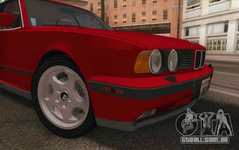 BMW M5 E34 1991 NA-spec para GTA San Andreas vista traseira