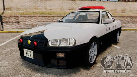 Nissan Skyline ER34 Police para GTA 4