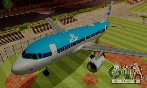 Airbus A319 KLM para GTA San Andreas vista superior