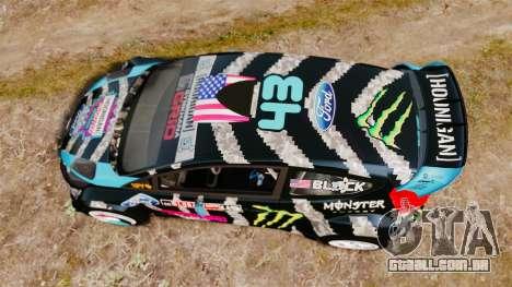 Ford Fiesta RS [Hoonigan] para GTA 4 vista direita