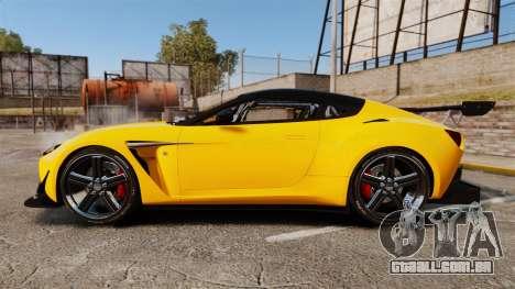 Aston Martin V12 Zagato para GTA 4 esquerda vista