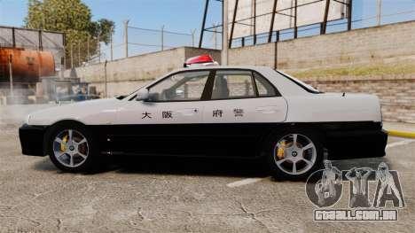 Nissan Skyline ER34 Police para GTA 4 esquerda vista