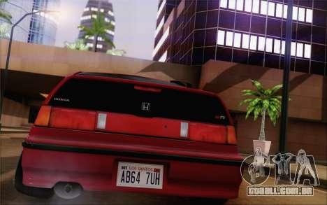 Honda CRX Low Gang para GTA San Andreas esquerda vista